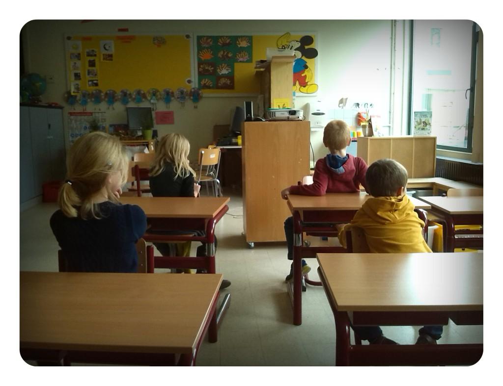 achterstevoren in klas