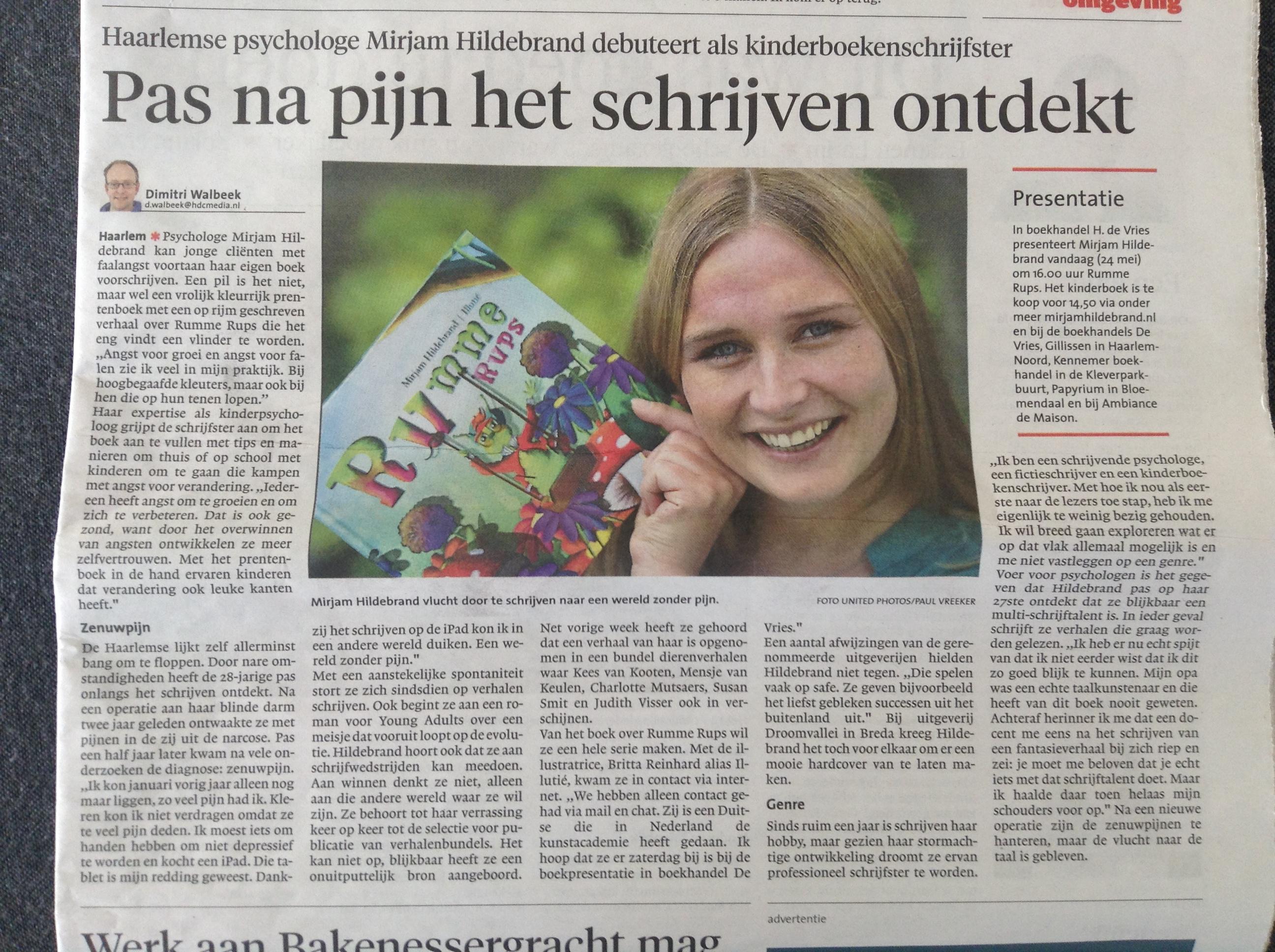 Haarlems Dagblad zaterdag 24 mei 2014
